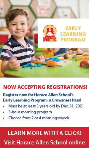 20210324 Horace Allen School Registration Crowsnest Pass