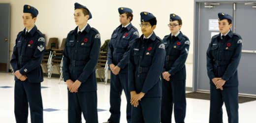 Air cadets show dedication to their communities