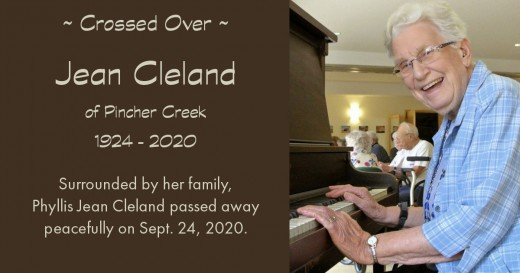 Obituary for Phyllis Jean Cleland