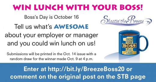 Win a lunch date with your boss!