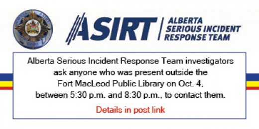 ASIRT investigates detention of man who died following release by Fort Macleod RCMP