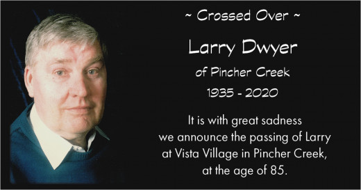 Obituary for Larry Dwyer