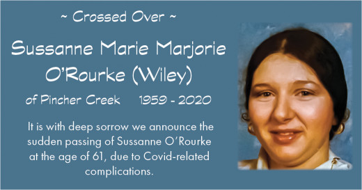 Obituary for Sussanne O'Rourke