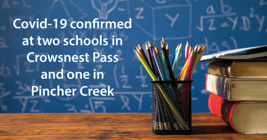 Covid-19 update for Pincher Creek and Crowsnest Pass schools