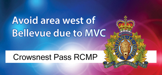 RCMP investigating MVC west of Bellevue