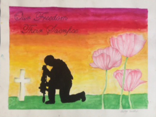 Colourful posters focus on remembrance
