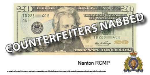 Counterfeiters nabbed in Claresholm