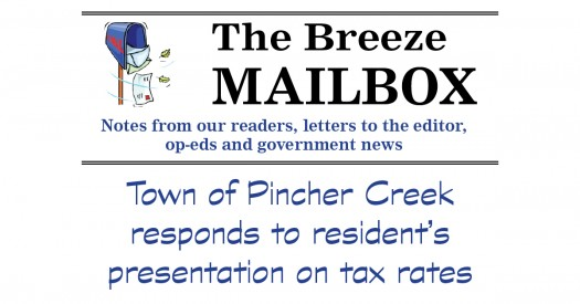 Town responds to resident's presentation on tax rates