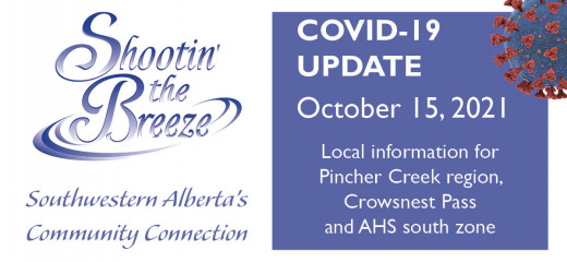 Oct. 15 south-zone Covid-19 update