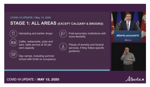 Stage 1 of Alberta's relaunch moves forward