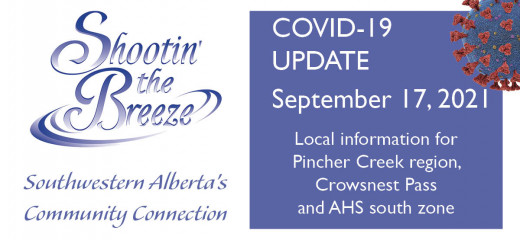 Sept. 17 south-zone Covid-19 update