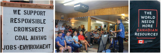 'Be visible where you stand': Group of area residents rally for Grassy Mountain