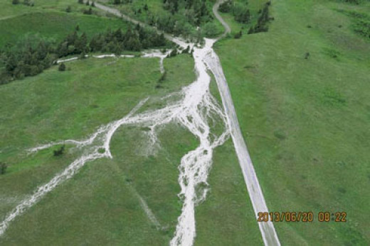 Waterton recovers from storm damage